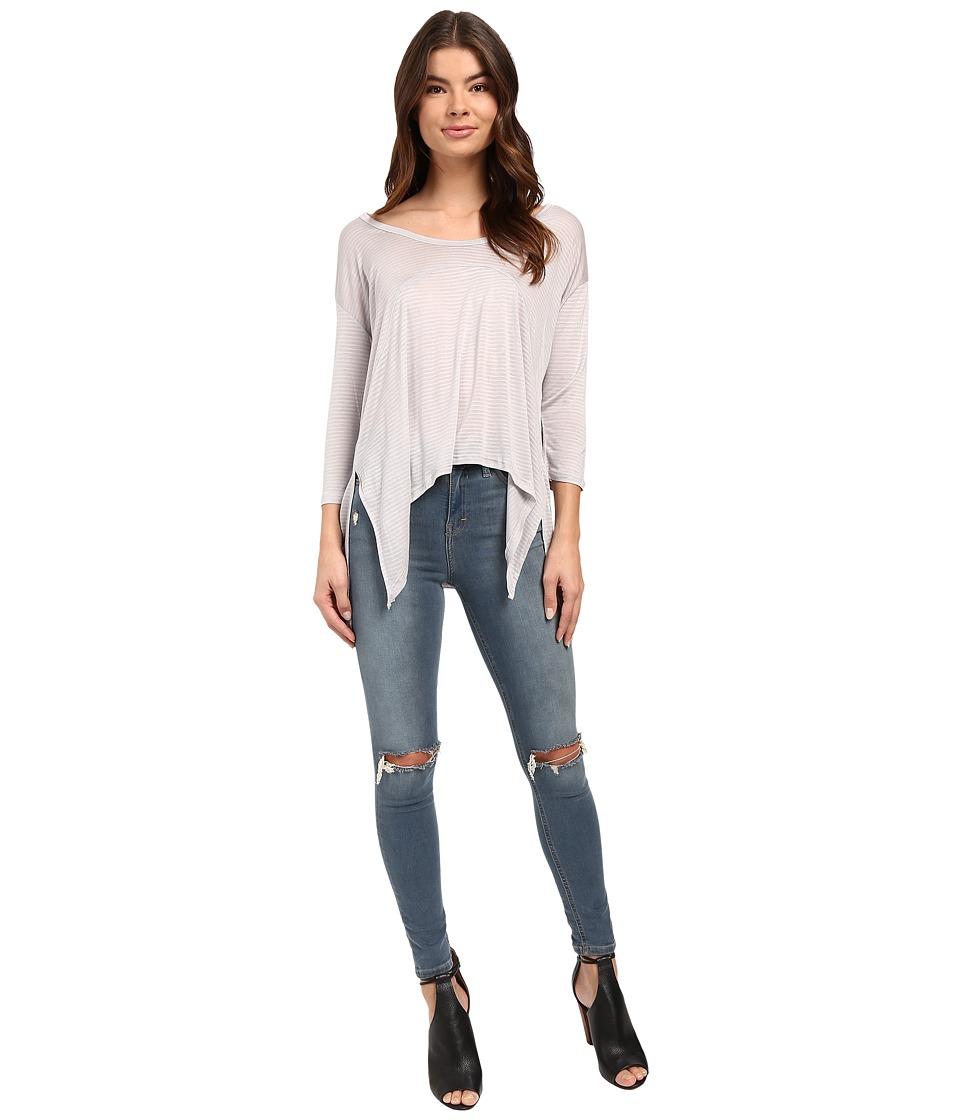 Culture Phit - Manon Long Sleeve Hankerchief Tee (Grey) Women's T Shirt