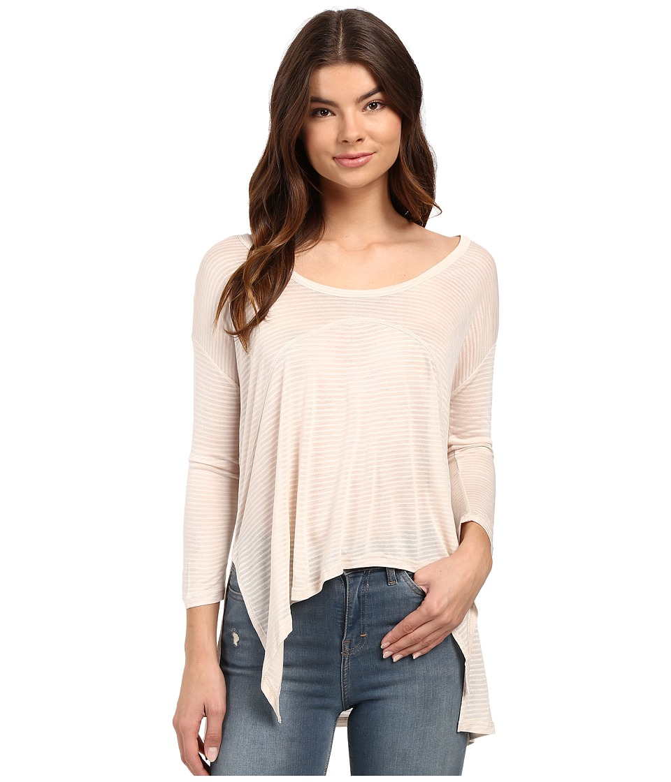 Culture Phit Manon Long Sleeve Hankerchief Tee (Taupe) Women
