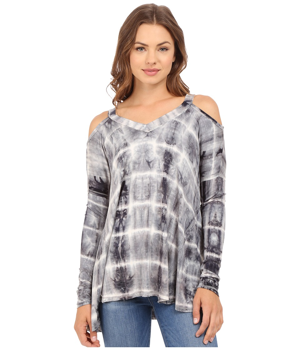 Culture Phit - Clemence Cold Shoulder Top (Charcoal/Ivory) Women's Clothing
