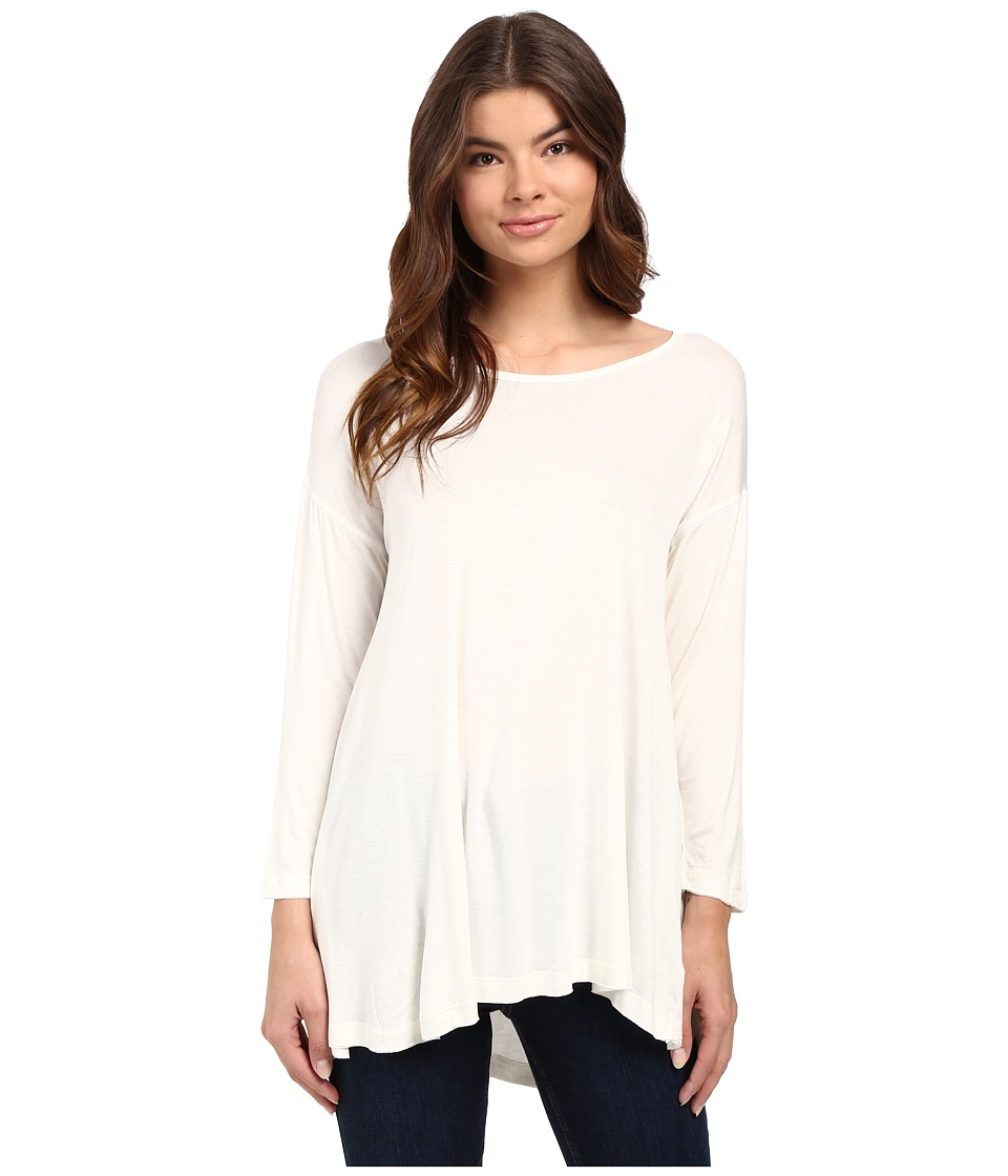 Culture Phit - Eliana 3/4 Sleeve Drape Top (Off-White) Women's Clothing