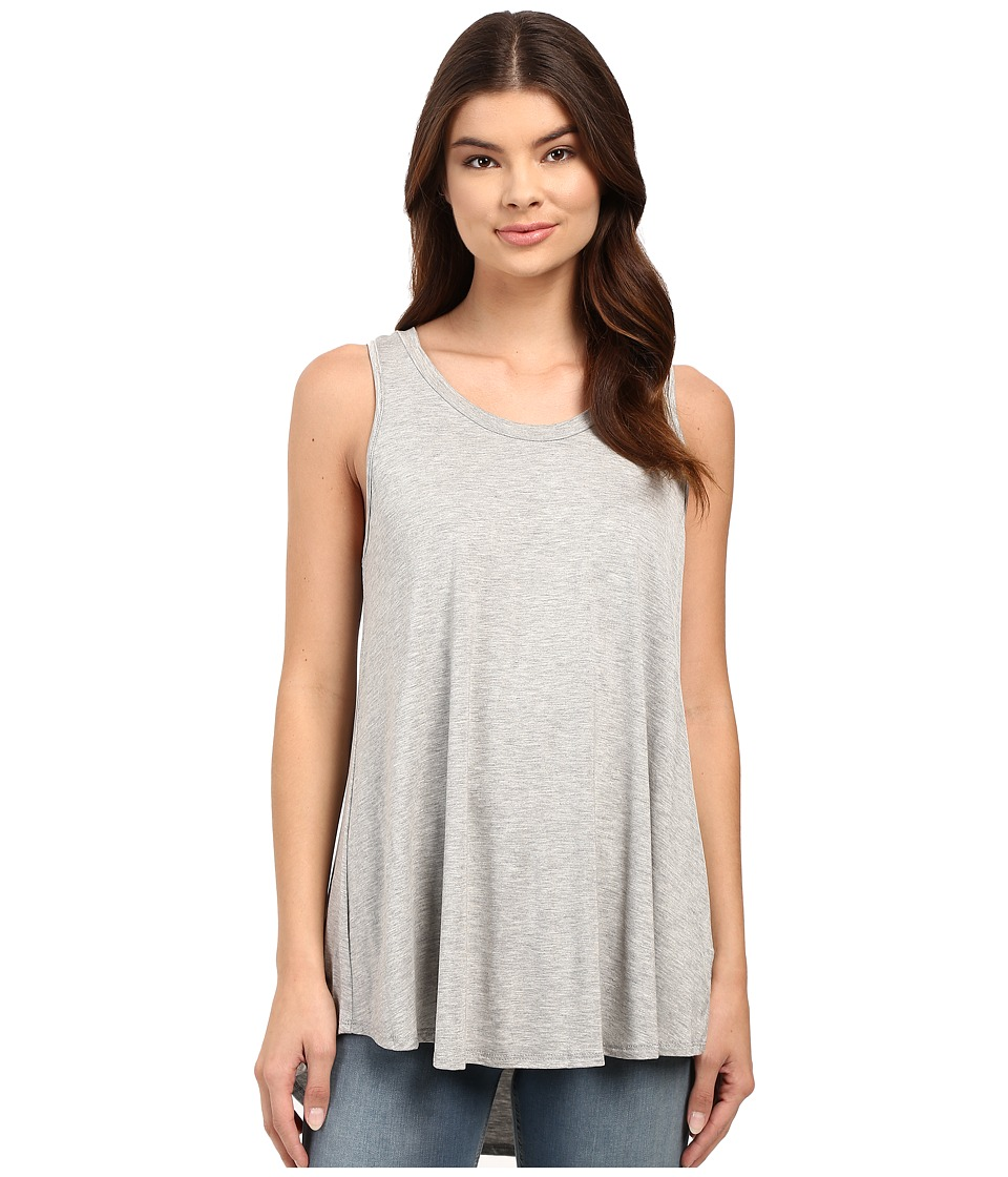 Culture Phit - Luciana Sleeveless Pleated Back Top (Heather Grey) Women's Sleeveless