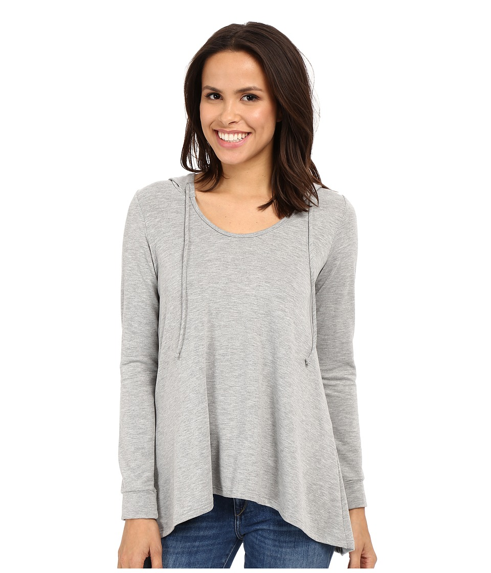 Culture Phit - Antonella French Terry Hooded Long Sleeve Top (Heather Grey) Women's Clothing