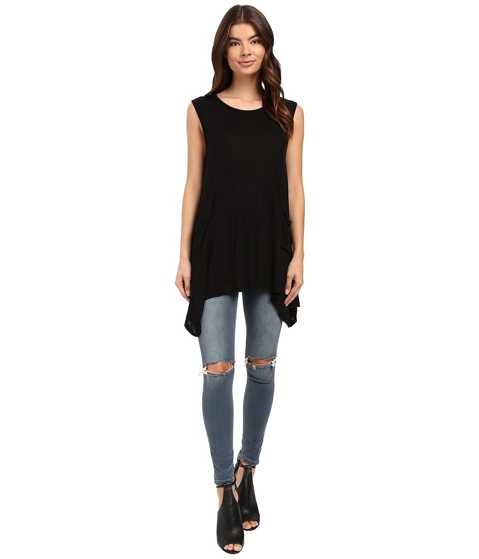 Culture Phit - Katya Sleeveless Tunic with Side Pocket (Black) Women's Sleeveless
