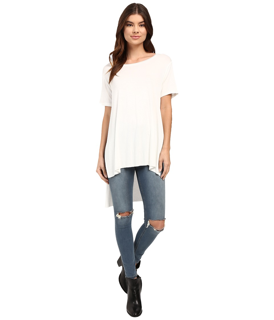 Culture Phit - Iman Long Top with Side Slit (Off-White) Women's Sleeveless