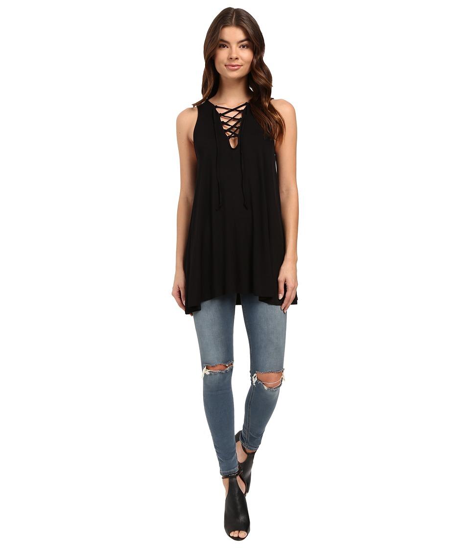 Culture Phit - Elodie Sleeveless Crossed Tunic (Black) Women's Sleeveless