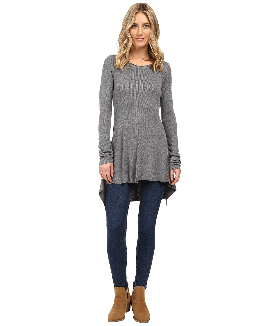 Culture Phit - Jamila Uneven Hem Sweater (Grey) Women's Sweater