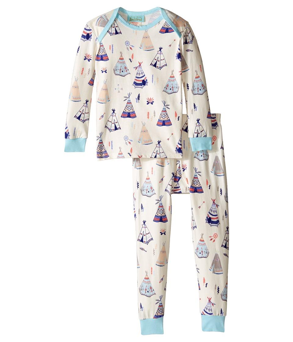 BedHead Kids - Long Sleeve Long Bottom Pajama Set (Infant) (Tee Pee) Girl's Pajama Sets
