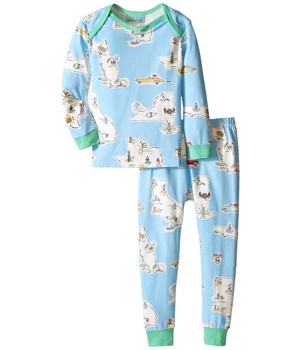 BedHead Kids - Long Sleeve Long Bottom Pajama Set (Infant) (Road Trip) Kid's Pajama Sets