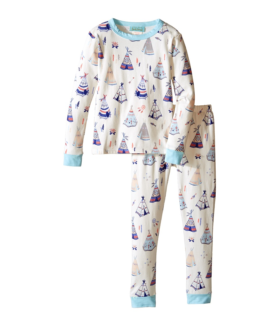 BedHead Kids - Long Sleeve Long Bottom Pajama Set (Toddler/Little Kids) (Tee Pee) Girl's Pajama Sets