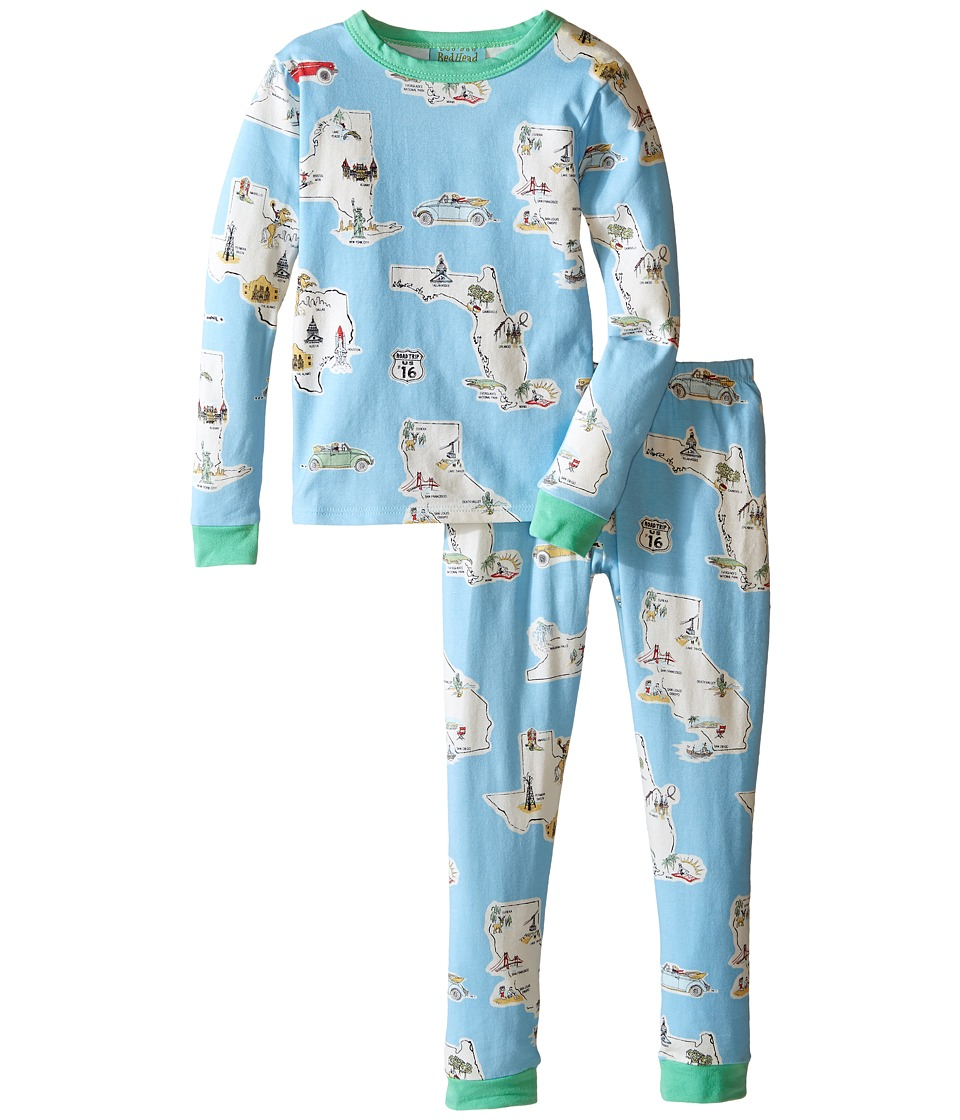 BedHead Kids - Long Sleeve Long Bottom Pajama Set (Toddler/Little Kids) (Road Trip) Kid's Pajama Sets