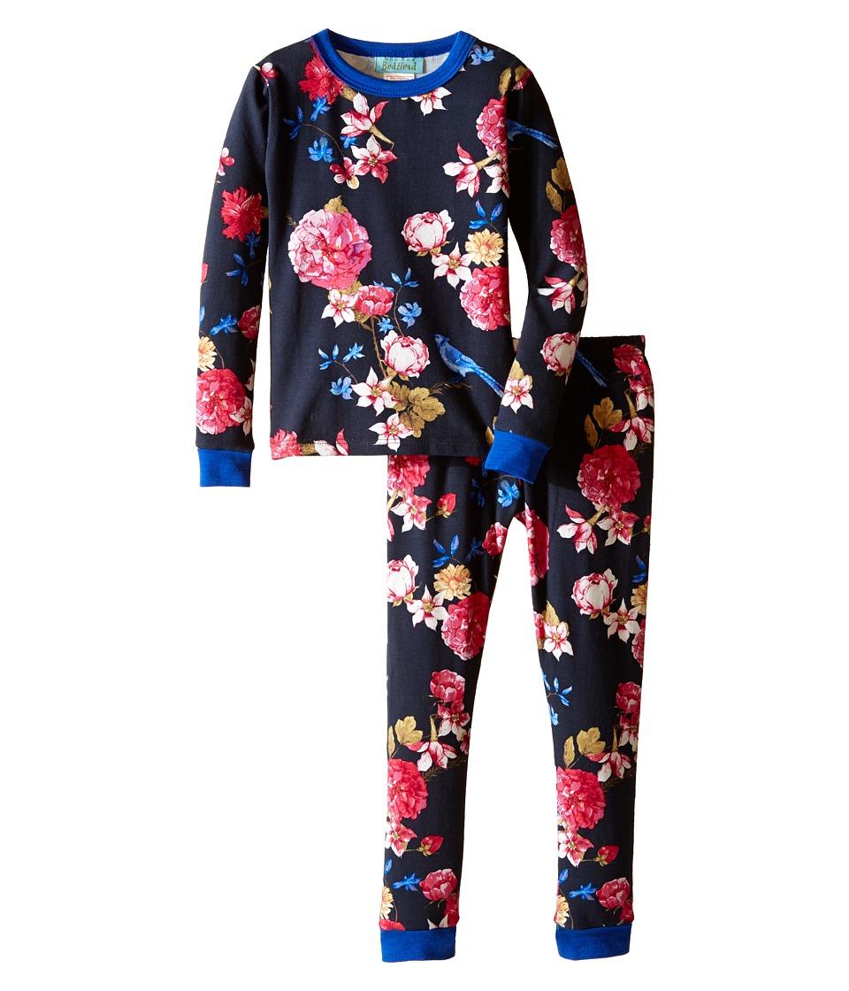 BedHead Kids - Long Sleeve Long Bottom Pajama Set (Toddler/Little Kids) (Mr. Blue Jay) Girl's Pajama Sets