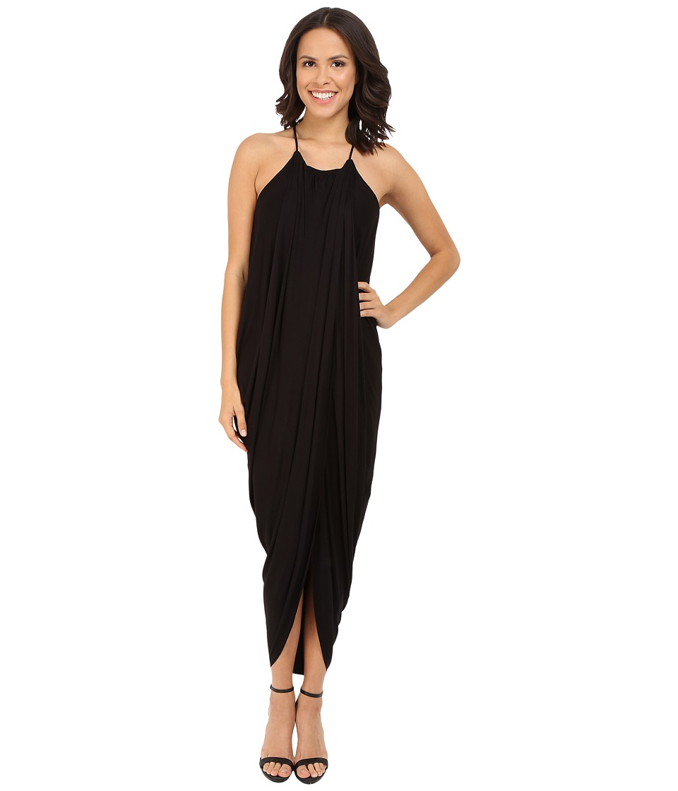 Culture Phit - Chiara Draped Maxi Dress (Black) Women's Dress