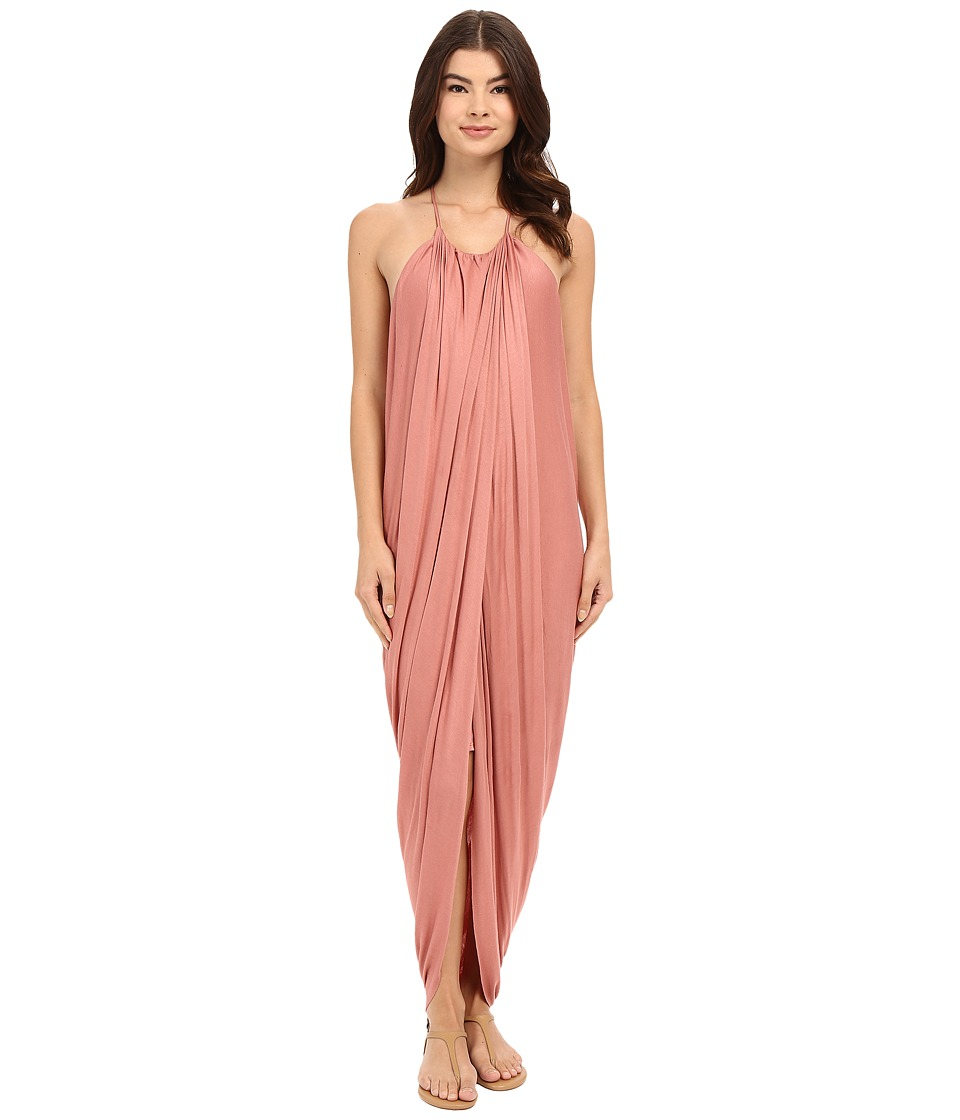 Culture Phit - Chiara Draped Maxi Dress (Marsala) Women's Dress