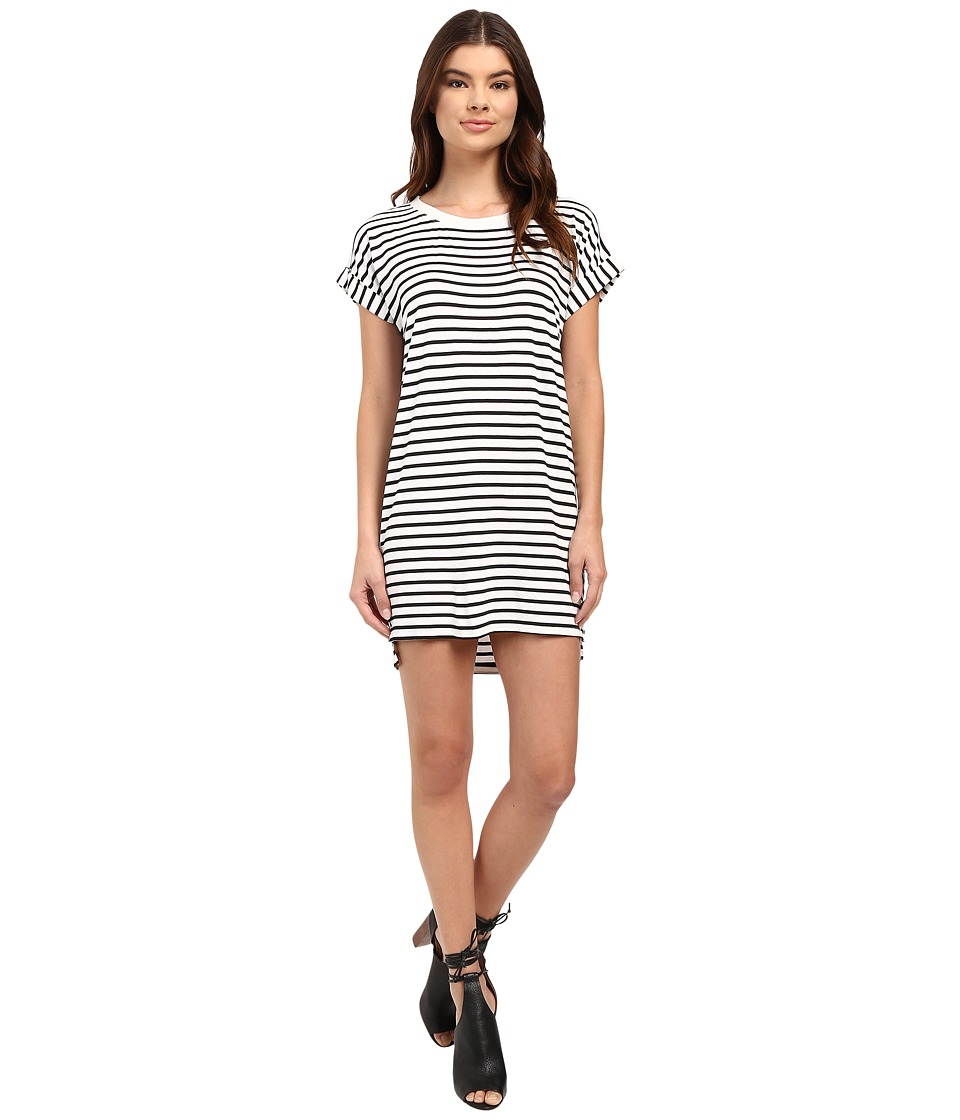 Culture Phit Calla Short Sleeve T-Shirt Dress (Off-White/Black) Women
