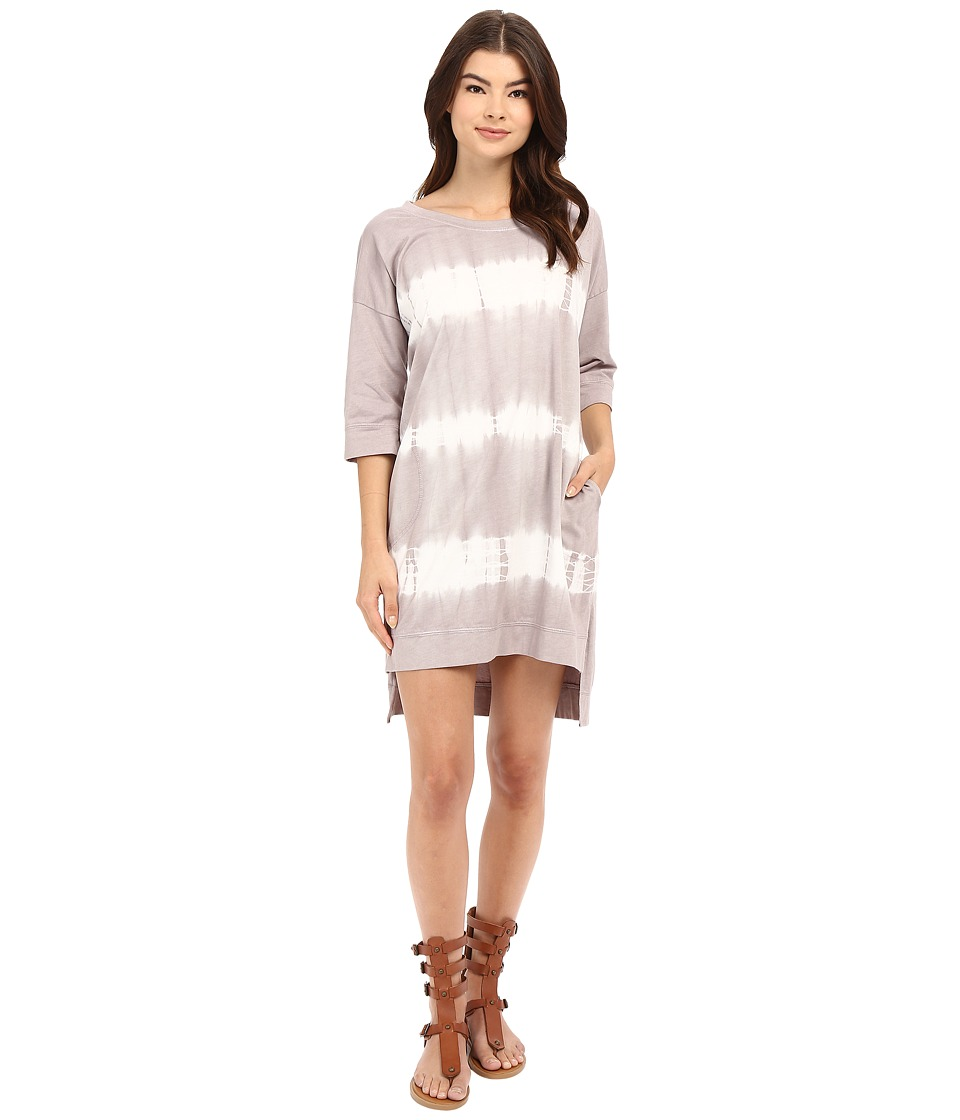 Culture Phit - Alexane Elbow Sleeve Tie-Dye Dress (Grey) Women's Dress
