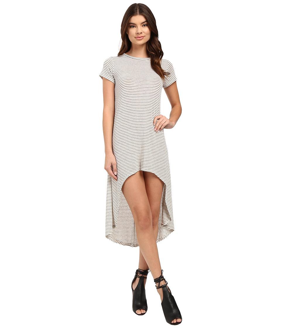 Culture Phit - Fia Striped High-Low Dress (Ivory/Black) Women's Dress