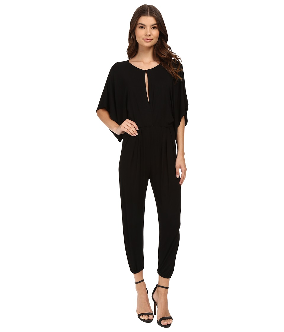 Culture Phit - Natalya Short Sleeve Jumper (Black) Women's Jumpsuit & Rompers One Piece