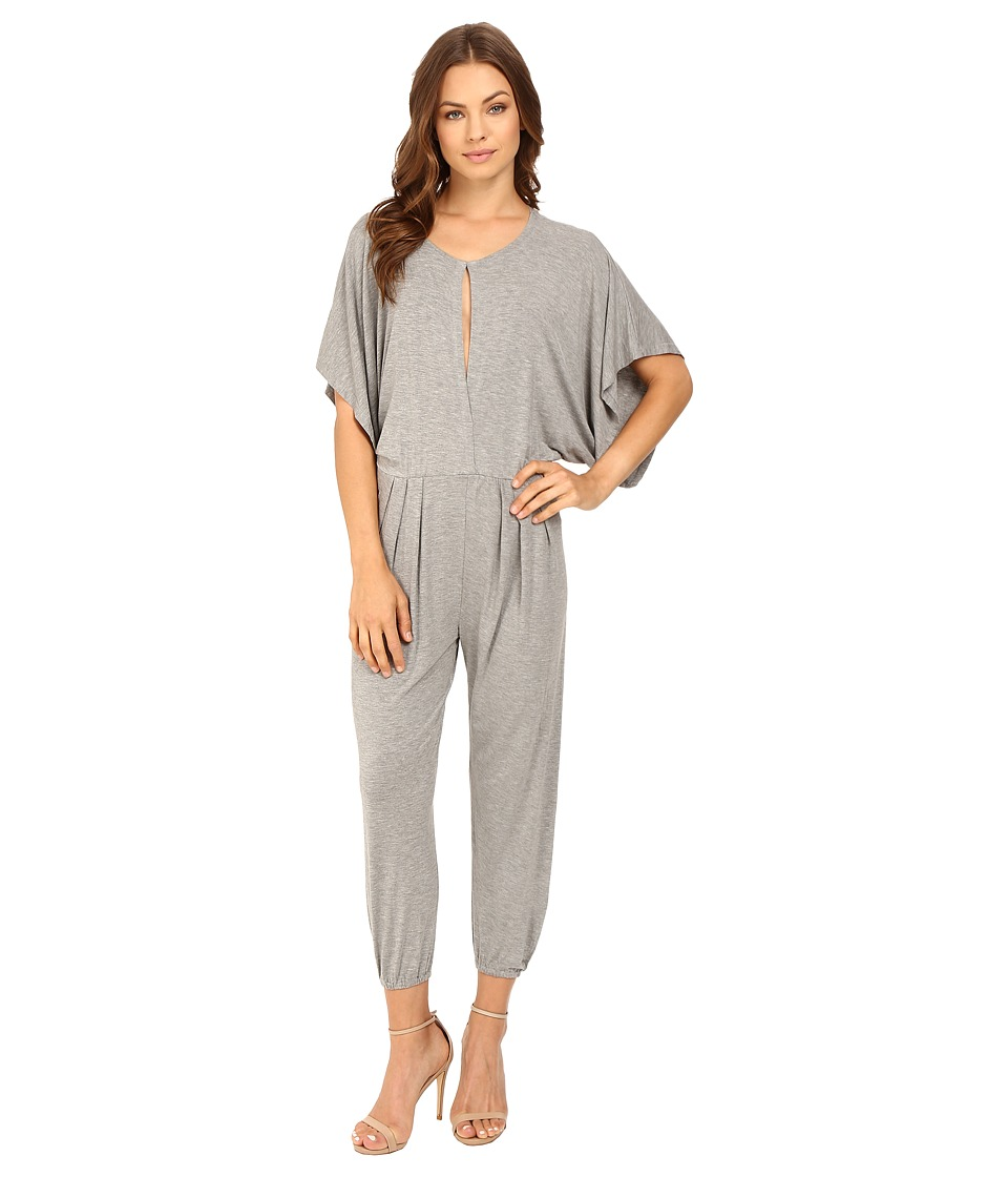Culture Phit - Natalya Short Sleeve Jumper (Heather Grey) Women's Jumpsuit & Rompers One Piece