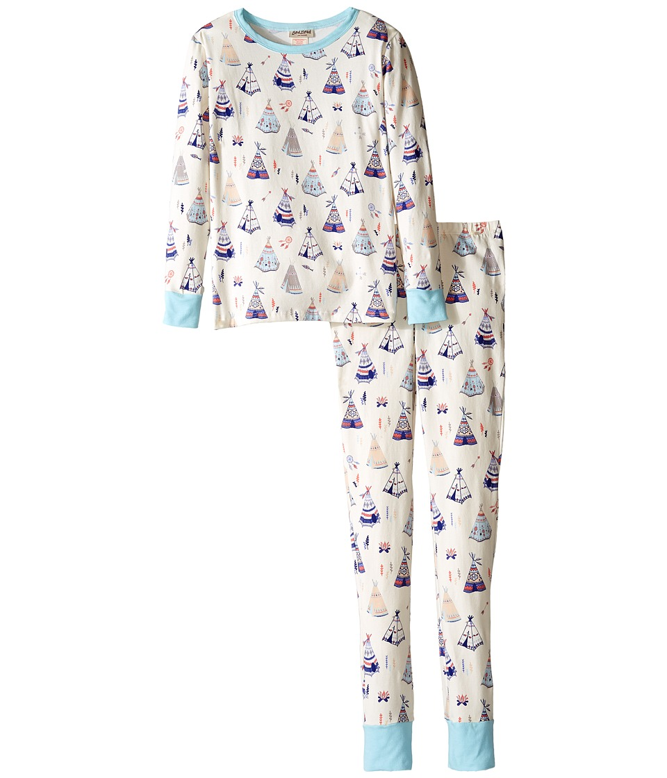 BedHead Kids - Long Sleeve Long Bottom Pajama Set (Big Kids) (Tee Pee) Girl's Pajama Sets