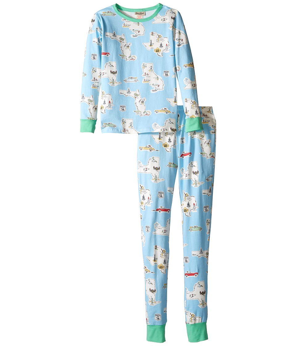 BedHead Kids - Long Sleeve Long Bottom Pajama Set (Big Kids) (Road Trip) Kid's Pajama Sets