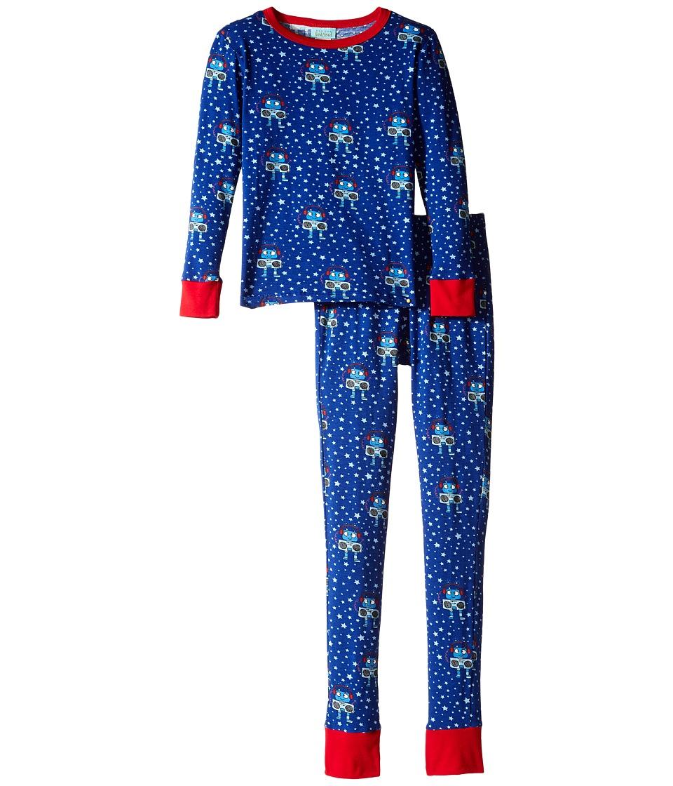 BedHead Kids - Long Sleeve Long Bottom Pajama Set (Big Kids) (Robots) Boy's Pajama Sets
