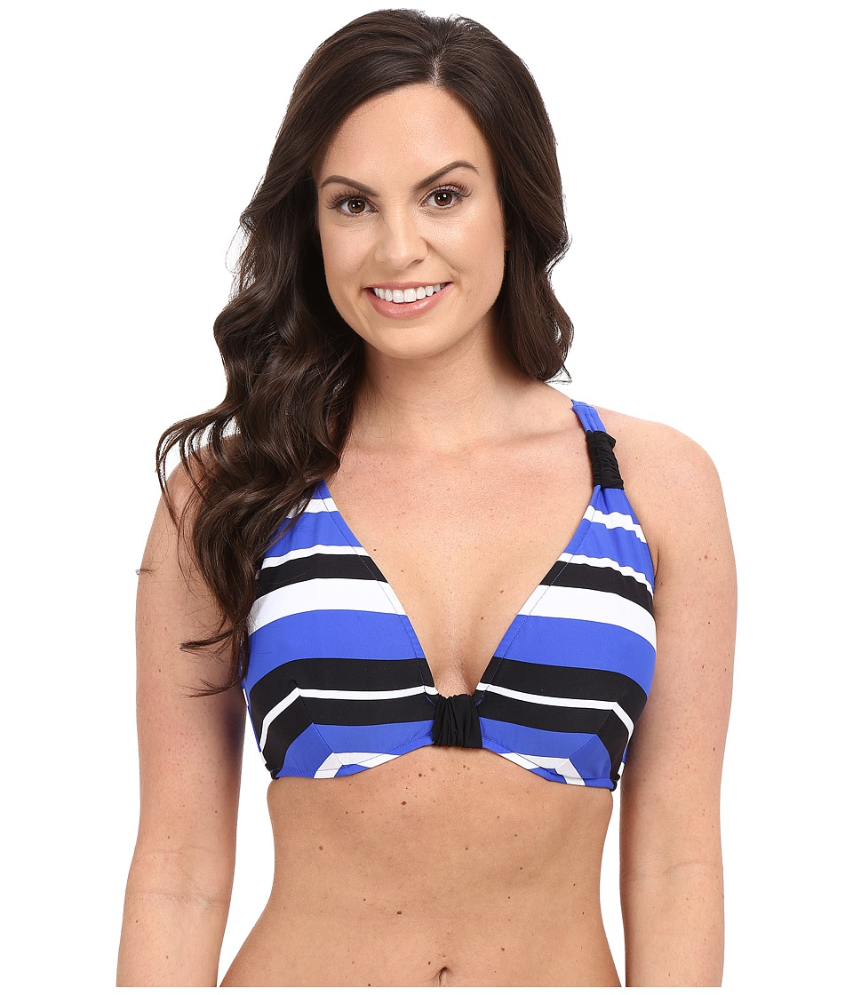 Seafolly - Walk the Line F Cup Halter Top (Blue Ray) Women's Swimwear