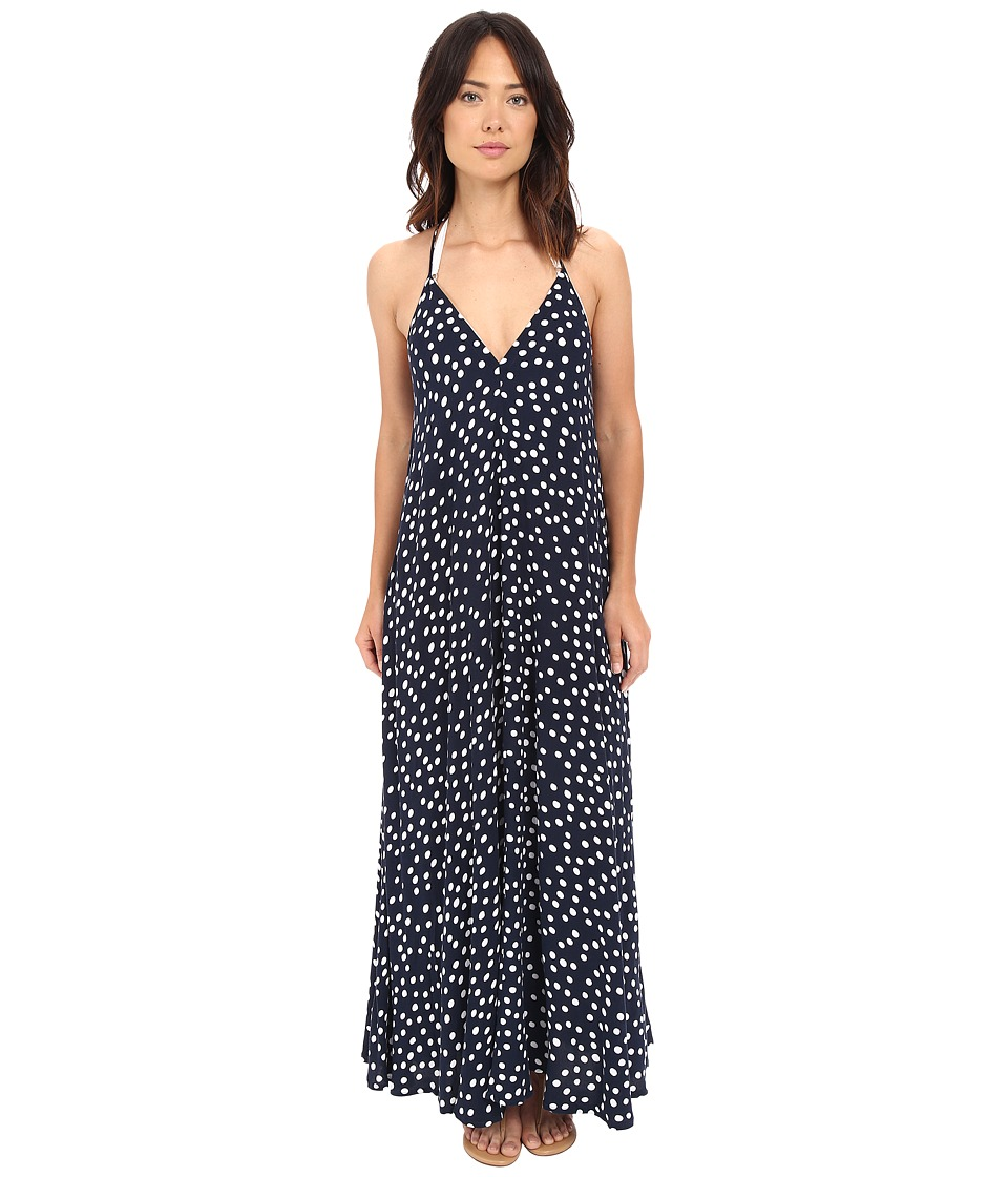 Seafolly - Spot On Night Sky Maxi Cover-Up (Indigo) Women's Swimwear