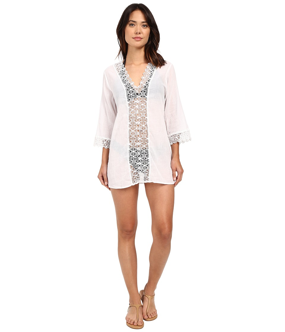 Seafolly - Island Kaftan Cover-Up (White) Women's Swimwear