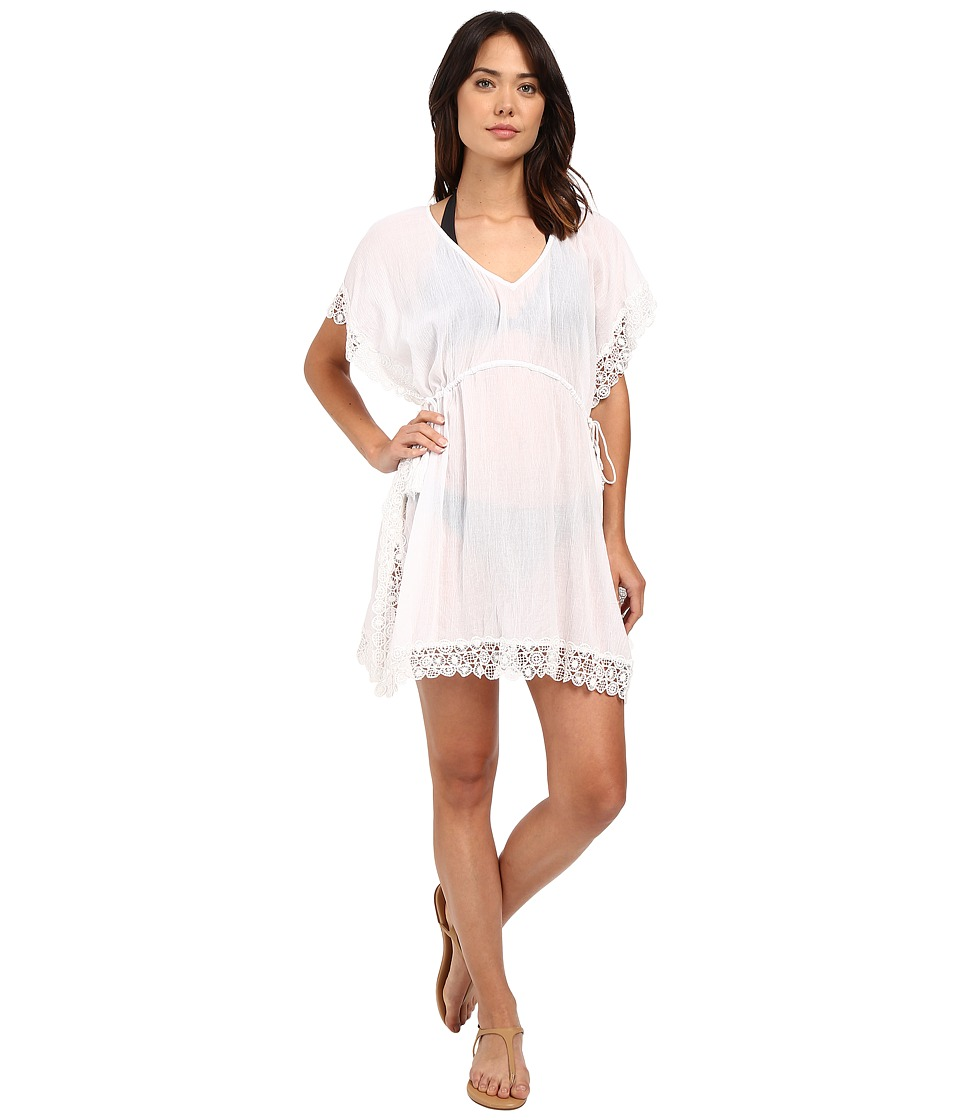 Seafolly - Hole Me Up Kaftan Cover-Up (White) Women's Swimwear