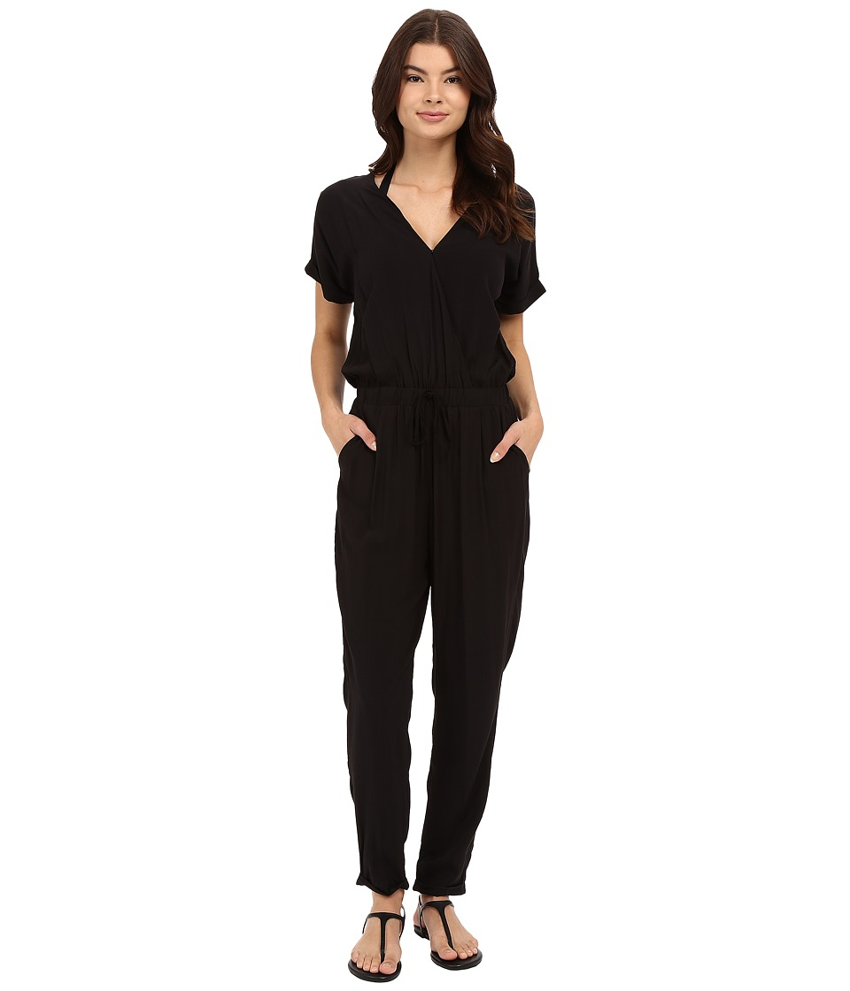 Seafolly - Walk the Line Zone Jumpsuit Cover-Up (Black) Women's Swimsuits One Piece