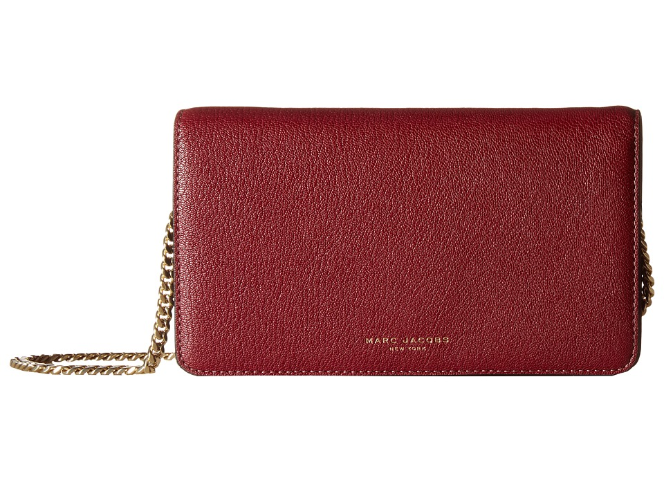 Marc Jacobs - Perry Wallet On Chain (Dark Cherry) Wallet Handbags