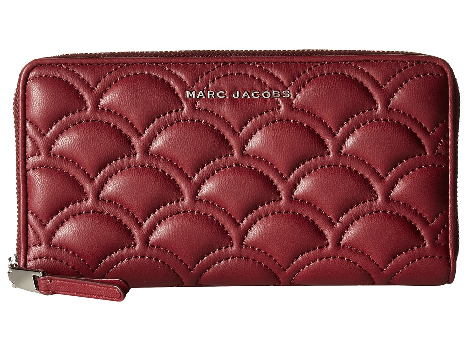 Marc Jacobs - Matelasse Standard Continental Wallet (Deep Maroon) Wallet Handbags