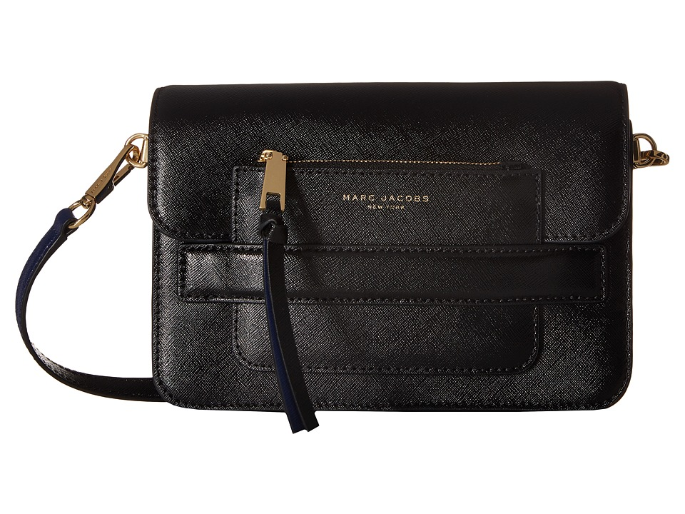 Marc Jacobs - Madison Saffiano Medium Shoulder Bag (Black Multi) Shoulder Handbags
