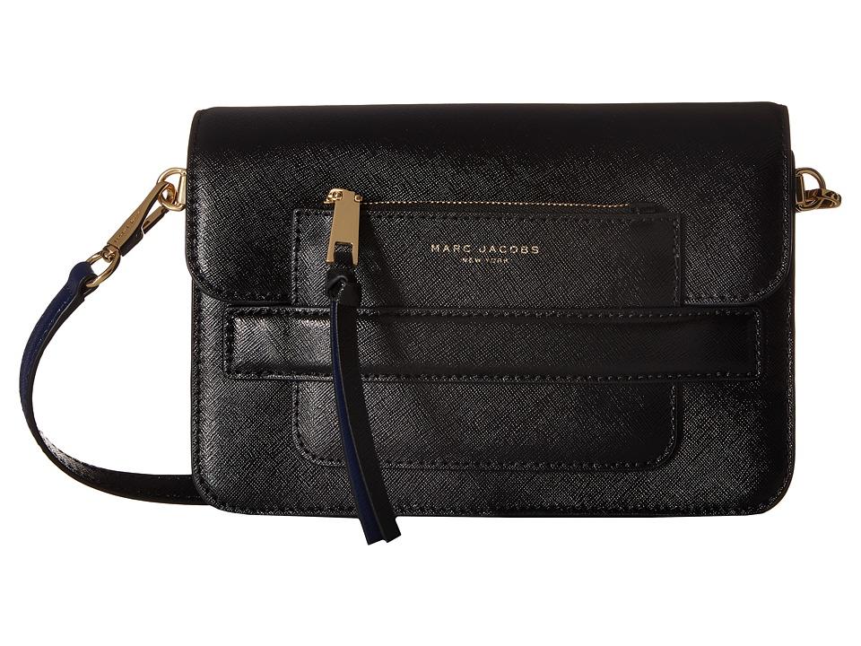 Marc Jacobs - Madison Saffiano Medium Shoulder Bag (Black Multi) Shoulder Handbags