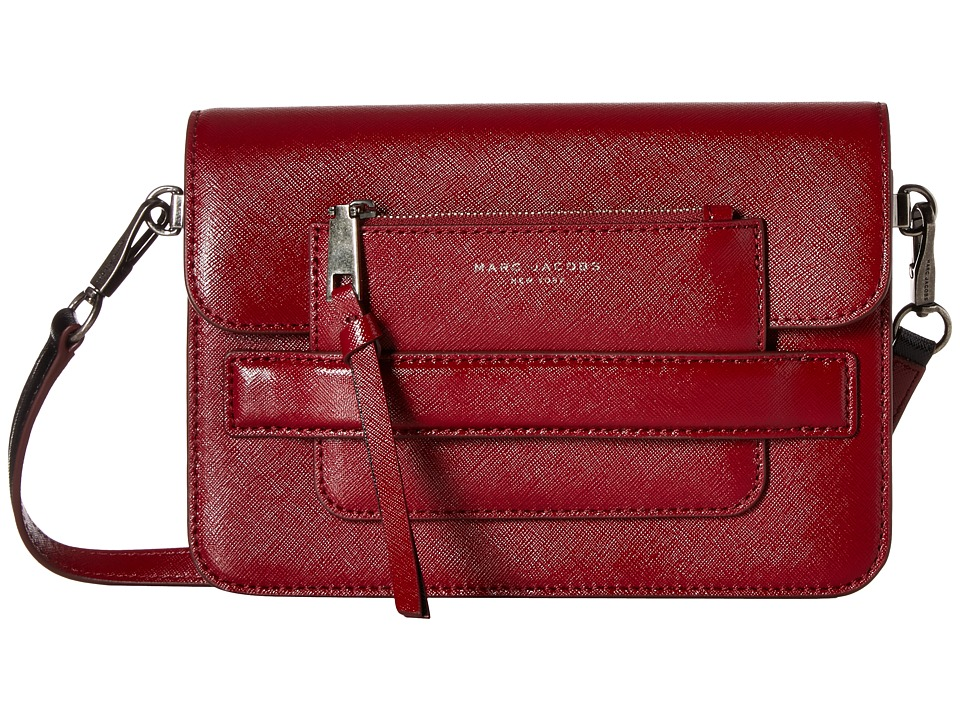 Marc Jacobs - Madison Saffiano Medium Shoulder Bag (Deep Maroon Multi) Shoulder Handbags