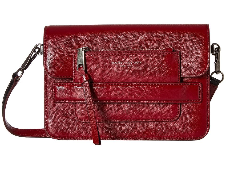 Marc Jacobs - Madison Saffiano Medium Shoulder Bag (Deep Maroon Multi) Shoulder Handbags
