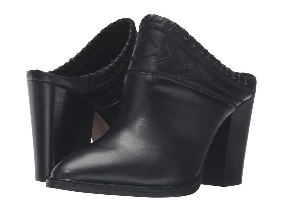 Kristin Cavallari Nikki Mule (Black Leather) High Heels