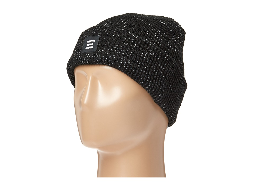 Herschel Supply Co. - Abbott (Black/Reflective Speckle) Beanies