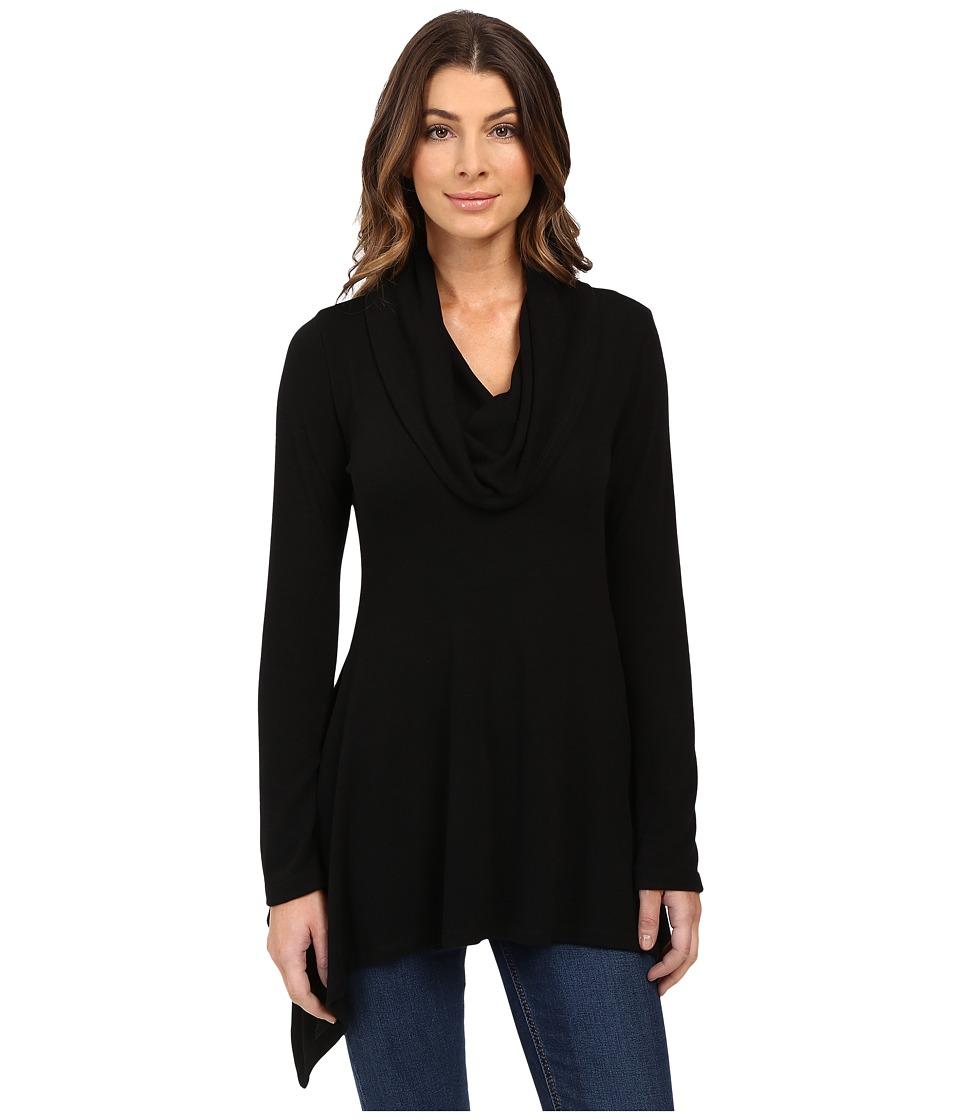 Karen Kane - Cowl Neck Handkerchief Top (Black) Women's Clothing