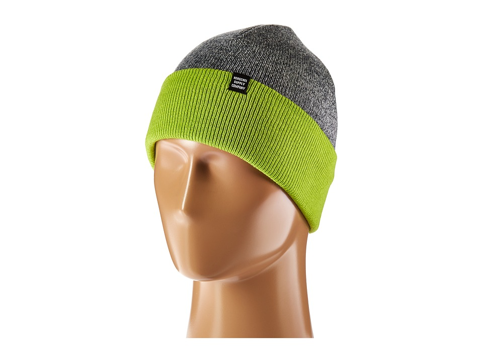 Herschel Supply Co. - Frankfurt (Heathered Grey/Lime Green) Beanies