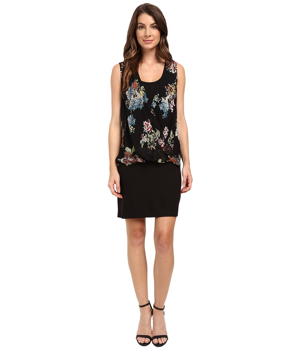 Karen Kane - Floral Drape Front Dress (Floral Print) Women's Dress