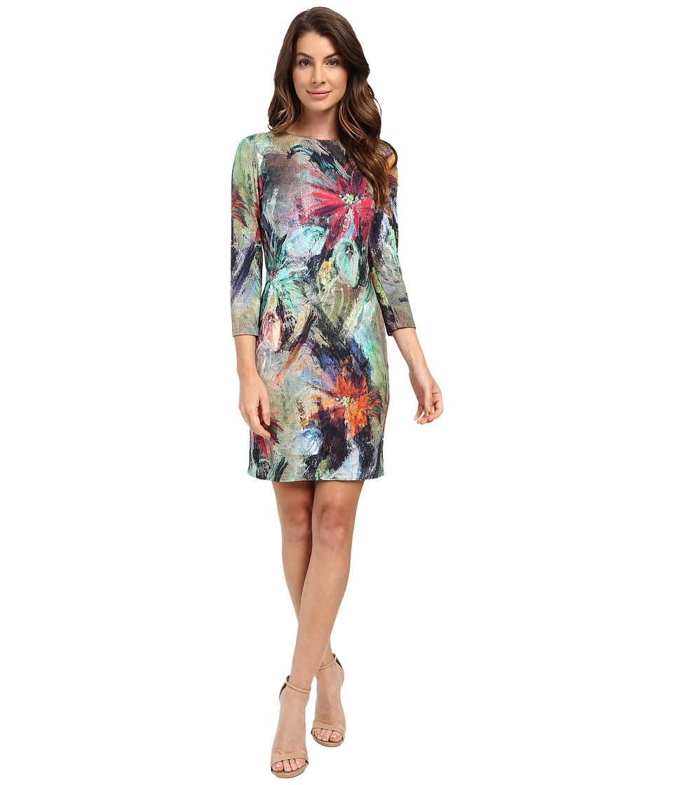 Karen Kane Floral Canvas Sheath Dress (Print) Women