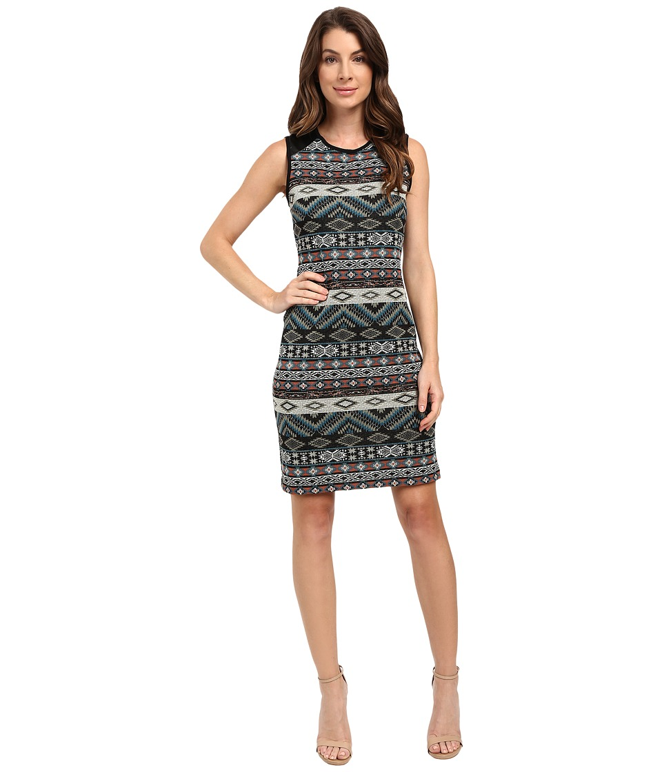 Karen Kane - Contrast Jacquard Dress (Jacquard) Women's Dress