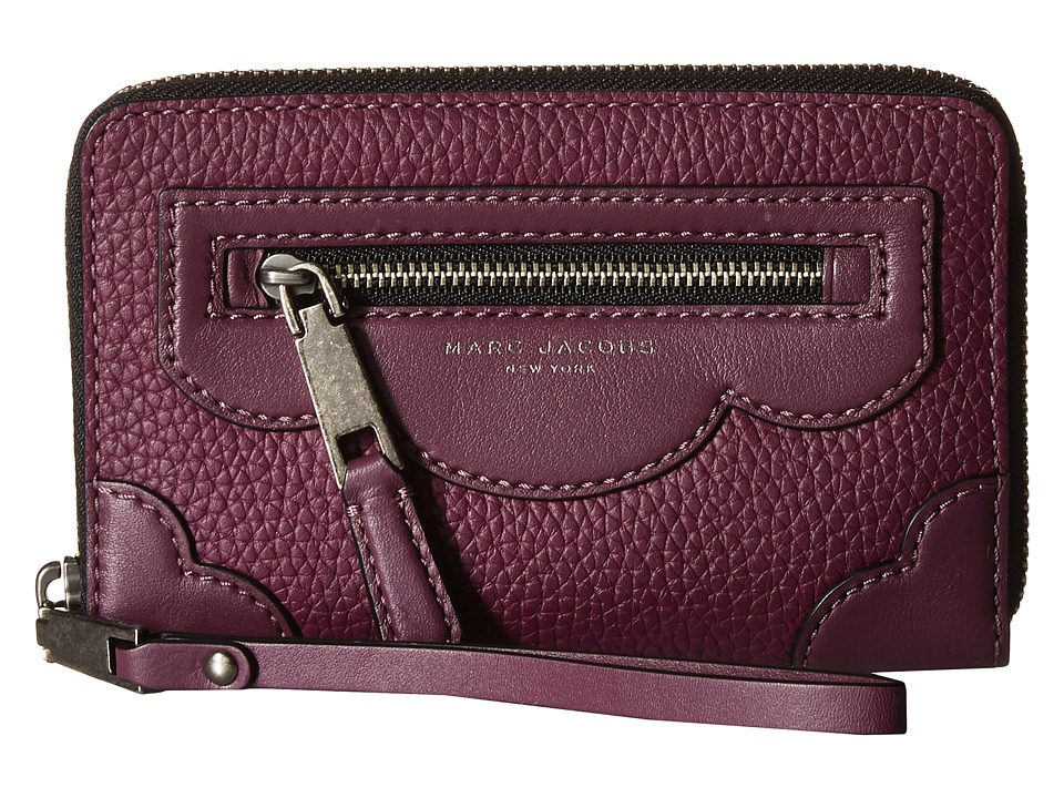 Marc Jacobs - Haze Zip Phone Wristlet (Iris) Wristlet Handbags