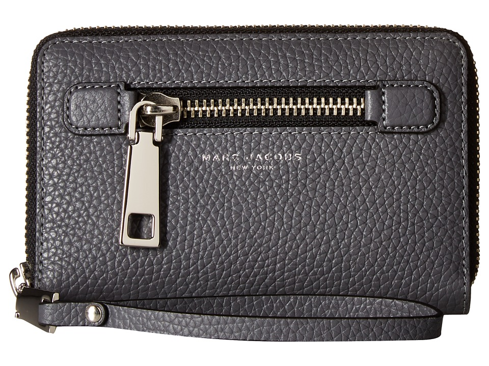 Marc Jacobs - Gotham Zip Phone Wristlet (Shadow) Wristlet Handbags