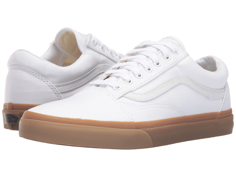 Vans - Old Skool X Gum Pack ((Canvas Gum) True White/Light Gum) Skate Shoes
