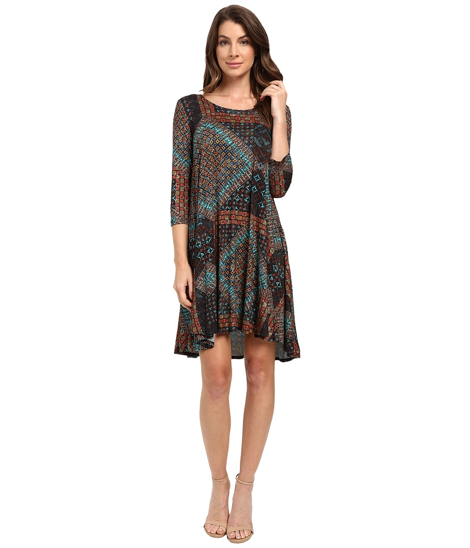 Karen Kane - Tile Mosaic Maggie Trapeze Dress (Print) Women's Dress