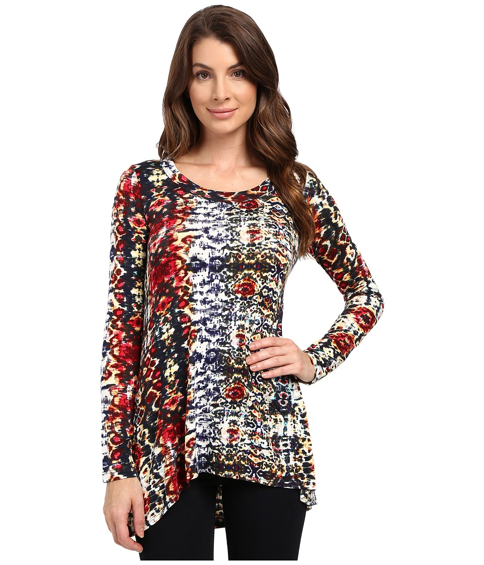 Karen Kane Spanish Days Hi-Lo Top (Print) Women's Clothing