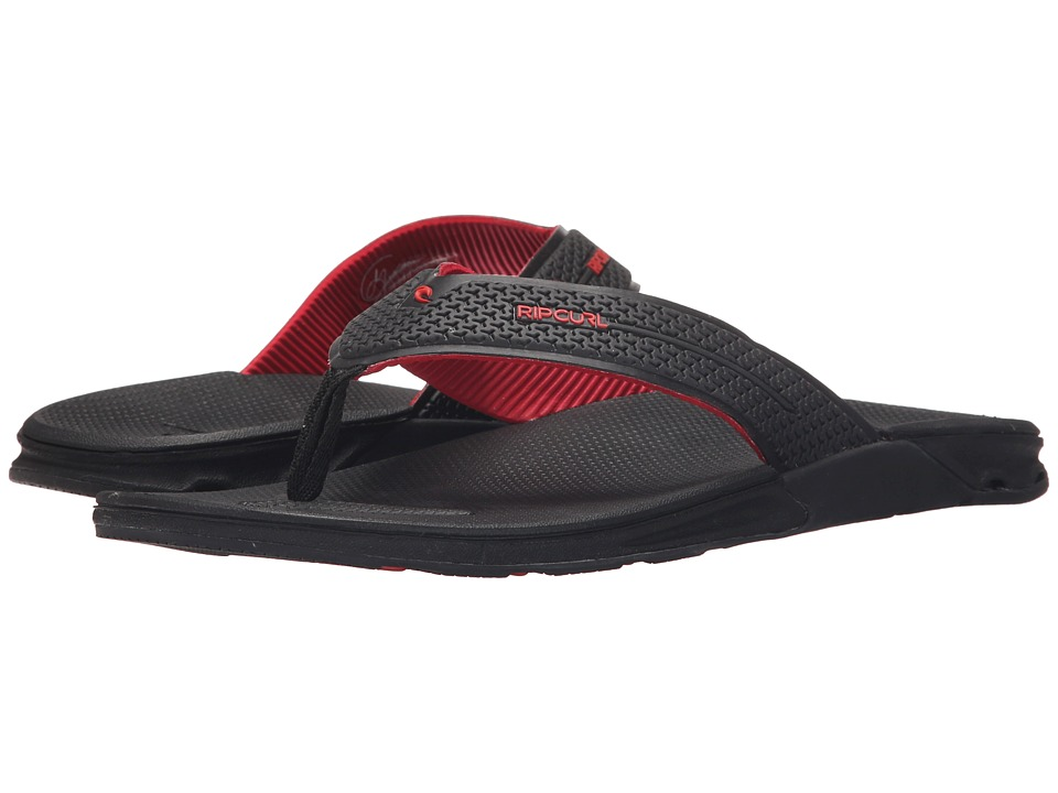 Rip Curl - The Game (Black/Red) Men's Sandals