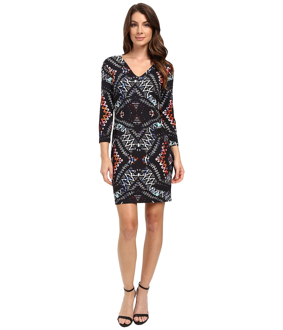 Karen Kane - Abstract Kaleidoscope Sheath Dress (Print) Women's Dress